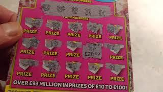 """•UNBELIEVABLE Scratchcard game•Wow!(if you want more of these•just""""LIKE•)FANTASTIC•Classic game"""