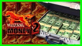 MASSIVE WINNING on HIGH LIMIT Mustang Money 2 Slot Machine - Dollar Denomination W/ SDGuy1234!