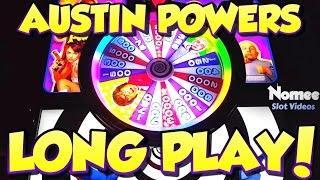Austin Powers Slot Machine - Long Play with Bonuses - Nice Wins!
