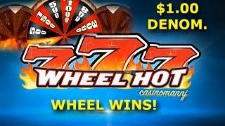 777 Wheel Hot Slot - Dollar Denom Slot -*NEW SLOT* -  Slot Machine Bonus