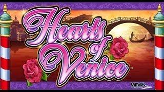 WMS Gaming - Super Hot Hot Respin Hearts of Venice Slot Bonus