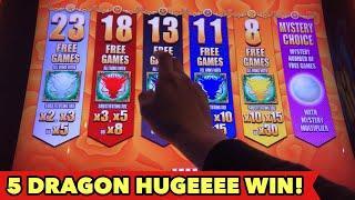 •️5 DRAGON GRAND HUGE WIN•️MAX BET $8.80 DANCING DRUM SLOT BONUS | Las Vegas Aria Casino Slot