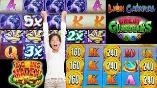NEW GAME• •Great Guardians• •Lion Carnival• •A'Coins Matey• BY KONAMI Live Play/Free Spins