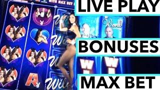 NEW SLOT ALERT!!! LIVE PLAY on Playboy Don't Stop the Party Slot Machine with Bonuses