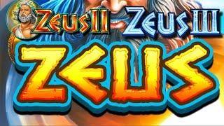 Triple the Pleasure! Triple the Fun! Zeus Slot Machine LIVE PLAY and BONUSES