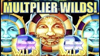 •CELESTIAL MULTIPLIER WILDS!• CELESTIAL SUN & MOON RICHES (KONAMI) BIG WIN Slot Machine Bonus