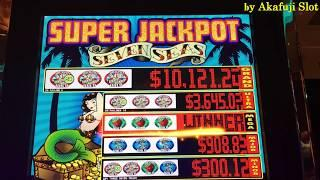 "JACKPOT• Handpay•SEVEN SEAS Dollar Slot ""High Limit Slot"" MaxBet $9, San Manuel Casino, Akafujislot"