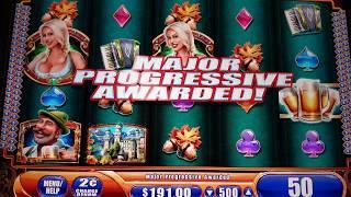 •️ BIER HAUS MAJOR PROGRESSIVE •️ BIG BONUS FREE SPINS - MAX BET SLOT MACHINE Casino Pokies