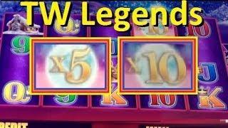 *BIG WIN!!* Timber Wolf Legends Slot Machine Bonus! Part 1 ~ Aristocrat (TimberWolf Legends Slot)