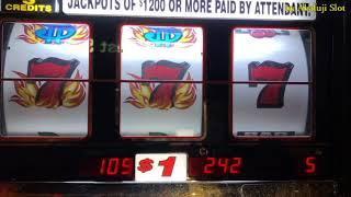 Blazing 7s $1 Slot - 3 Reels & 5x10x Bonus Times Pay $2 Slot Machine @San Manuel Casino & Pechanga