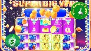 • Mystical Worlds 95% slot machine, Big Win, Happy Goose