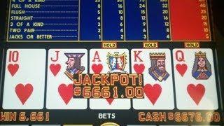 Royal Flush Progressive Jackpot @ Mirage, Las Vegas on 4/07/14