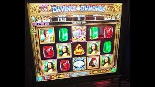 DaVinci Diamonds - Short and Sweet session - 10c denom - Slot Machine Bonus