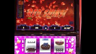 "VGT Slots ""Crazy Cherry Wild Frenzy""  $45 Red Spins Friend Jackpot  JB Elah Slot Channel"