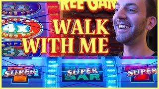 •  LIVE HIGH LIMIT PLAY• Walk About in San Manuel Casino • Slot Machine Pokies w Brian Christopher