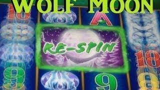 Wolf Moon Slot Machine Bonus - Free Spins And Respins!  Big Win! ~ Aristocrat (Wolf Moon)