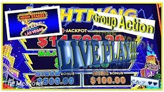 •GROUP LIVE ACTION • 10c Lightning Link(High Stakes) - Aristocrat•
