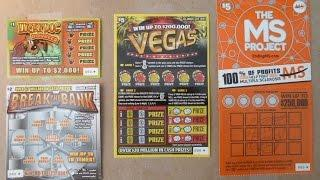 NEW Illinois Lottery Tickets for March - playing new instant lottery scratchcards