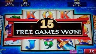 Warrior's Gate Slot Machine Bonus + Retrigger - 22 Free Games with Stacked Wilds - BIG WIN (#2)