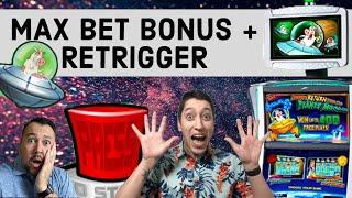 MAX BET Bonus on Invaders Return From The Planet Moolah & $9 SPINS on Double Jackpot Lion's Share!