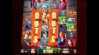 THE WALKING DEAD Slot Machine - 4 Bonus Rounds - It Was A Fight :-)