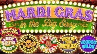 Mardi Gras Slot - $7.50 Max Bet - NICE SESSION BONUSES!
