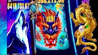 •5 DRAGONS GRAND•BIG WIN SLOT MACHINE•TIMBER WOLF GRAND• LAS VEGAS SLOTS!
