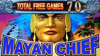 *70 FREE SPINS* MAYAN CHIEF | KONAMI - Nice Win! Slot Machine Bonus
