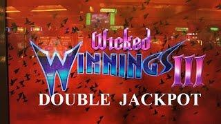 DOUBLE JACKPOT LIVE PLAY•Wicked WinningsIII Slot MaxBet $5 High Limit Handpay Harrah's Casino カジノ