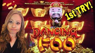 ARISTOCRAT GOLD STACKS 88 DANCING FOO 1ST ATTEMPT & PURE GOLD FREE GAMES