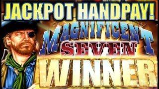 •JACKPOT HANDPAY!• MAGNIFICENT SEVEN RELOADED Slot Machine Bonus (AINSWORTH) REPOST
