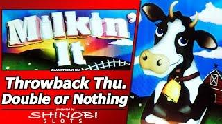 Milkin It Slot - TBT Double or Nothing, Live Play and Free Spins Bonuses