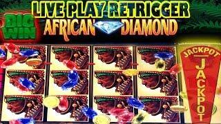 • BIG JACKPOT • LIVE PLAY • AFRICAN  DIAMOND • HIGH LIMIT SLOT