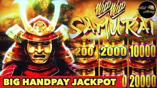 •BIG HANDPAY JACKPOT•MUST SEE WILD WILD SAMURAI 2ND TRY JAWDROP HUGE WIN BONUS SLOT MACHINE