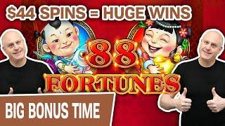 ⋆ Slots ⋆ 88 Fortunes Leads to RAJA Fortunes! ⋆ Slots ⋆ $44 Spins = HUGE Slot Machine Wins