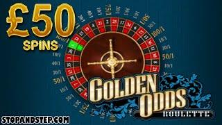 Golden Odds Roulette £50 Spins on the WORST Roulette Game Ever