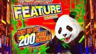 Aruze's UltraStack Panda Slot Machine (UNCUT) - Bonus, 76 Free Spins