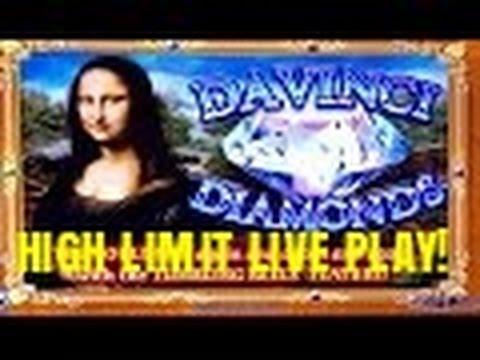 HIGH LIMIT-DAVINCI DIAMONDS SLOT MACHINE-LIVE PLAY