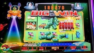 350+ GAMES JACKPOT!!! Invaders Return From The Planet Moolah!!! 1c WMS Slots in San Manuel Casino