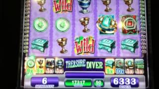 NICE Treasure Diver Slot Machine Bonus Win