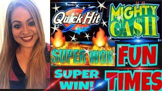 •FUN DAY PART 2!•  ARISTOCRAT FAST CASH SUPER WIN! ••MIGHTY CASH•• | WONDER 4 JACKPOTS