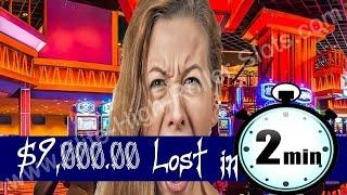 $9,000 Grand Lost in 2 Minutes on High Stakes Vegas Video Slot NO Jackpot Handpay Handpay Aristocrat