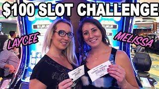 Laycee & Melissa RETURN! •$100 Slot Challenge on DOUBLE BLESSINGS | Slot Ladies