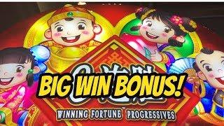 BIG WIN BONUS ON WINNING FORTUNE PROGRESSIVES
