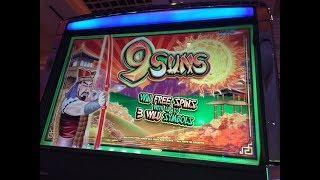 * WMS * 9 SUNS Slot Big Win Bonus & Re Trigger