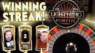 Lightning Roulette Winning Streak!