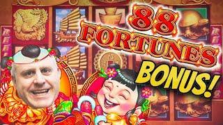 ⋆ Slots ⋆ BOOM - $7,700 Jackpot on 88 Fortunes! ⋆ Slots ⋆ Huge Bonus Win Playing Max Bet $44 Spins!