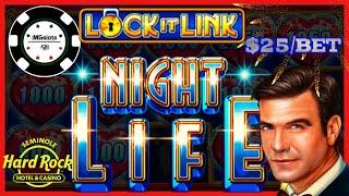 HIGH LIMIT Lock It Link Night Life & Ultimate Fire Link River Walk $25 BONUS ROUND Slot Machine