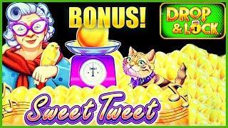 HIGH LIMIT Drop & Lock Sweet Tweet ⋆ Slots ⋆$25 Bonus Round Lock It Link Slot Machine Casino