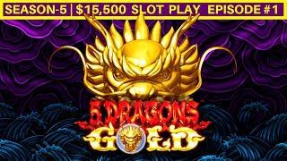 5 Dragons Gold Slot Machine Live Play   Season-5   EPISODE #1